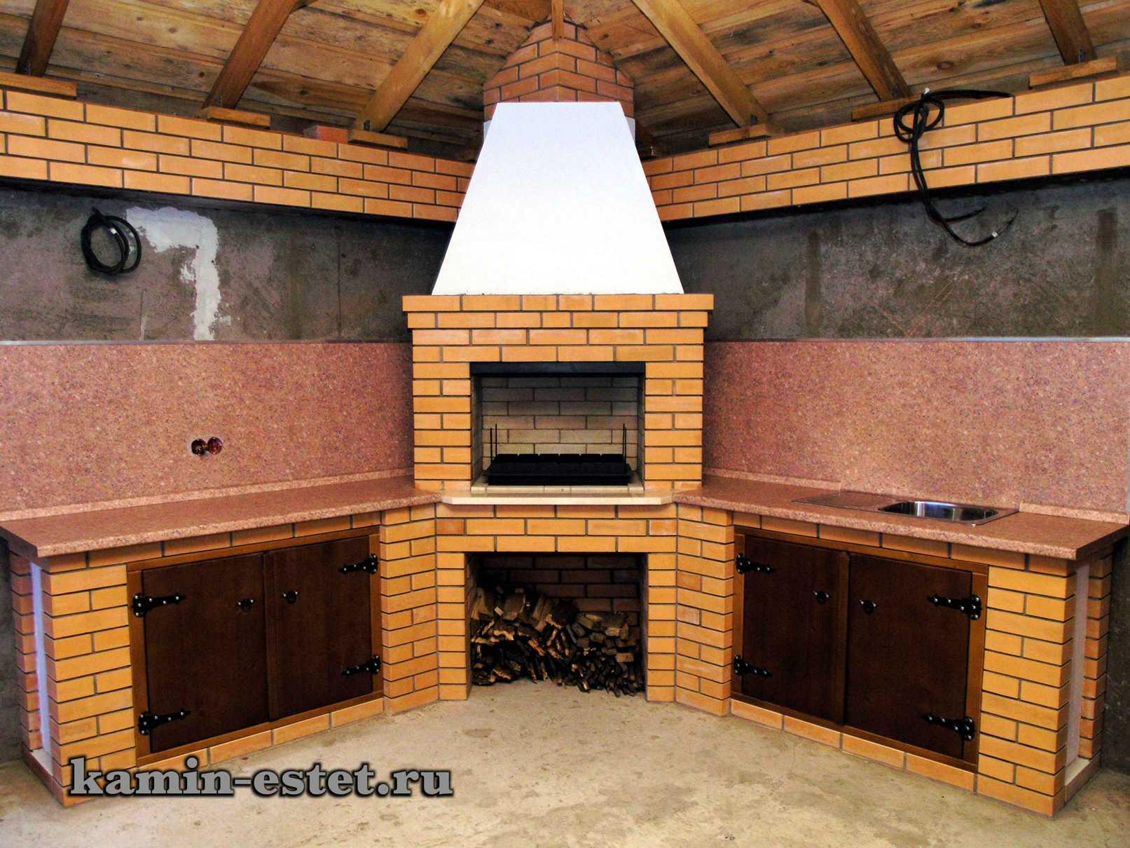 Проекты каминов совмещённых с барбекю летняя кухня с барбекю мангалом казаном своими руками порядовка